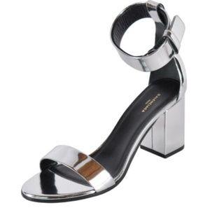 NWT Balenciaga 490631 Mirrored Silver Leather Heel